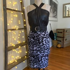 NWT- Forever 21- Knotted, metallic halter top.